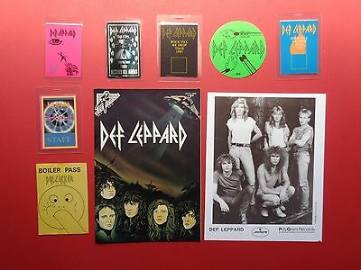 DEF LEPPARD,1 promo photo,7 Backstage passes,RARE Originals,Comic Book
