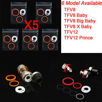 5 Set Replacement Rubber O-ring Seal Ring Kit for SMOK TFV8 Baby Big Baby TFV12