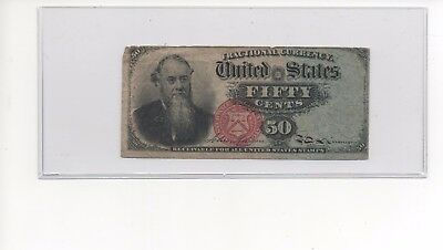 March 1863 US Fractional Currency 50 Cents 4th Issue Fr# 1376 50c Blue Right End