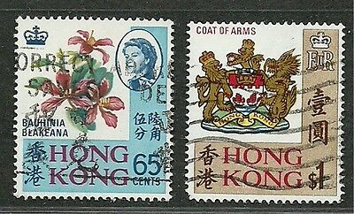HONG KONG 1968 Very Fine Used Stamps Set Scott # 245-246