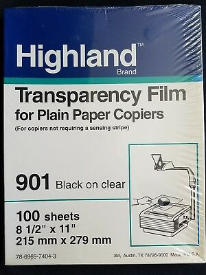 sealed Highland Transparency Film for plain Paper Copiers 100 Sheets