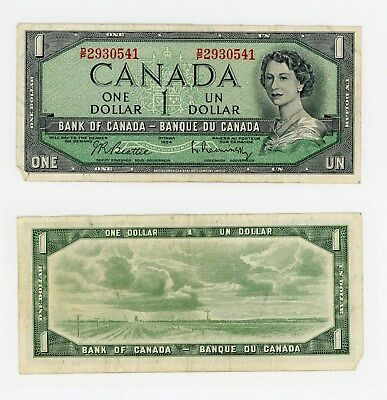Canadian $1 bank note from 1954