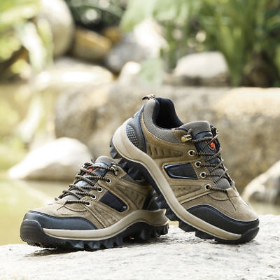 Men's Outdoor Hiking Shoes Anti Skid Rubber Atheltic Waterproof Climbing Shoes