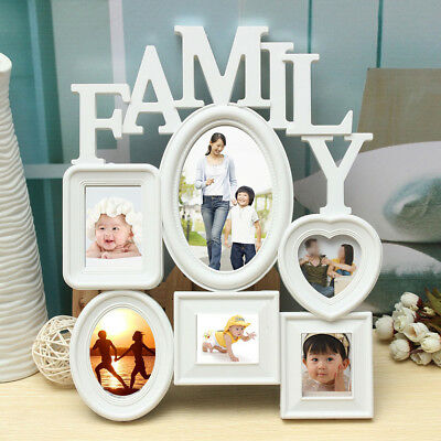 Multi Photoframe Family Love Frames Collage Picture Aperture Wall Photo Frame Ex