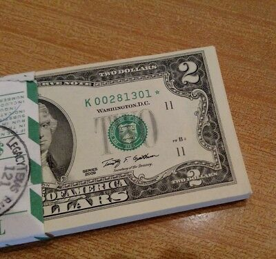 Uncirculated 2009 Two Dollar Star Notes FRB Dallas Low Serials Free Shipping