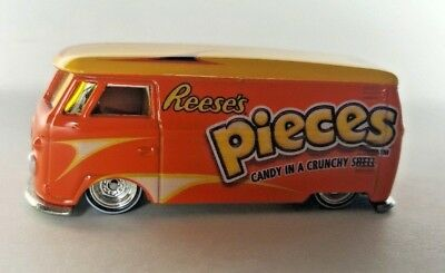 Hot Wheels 2011 Reese's Pieces Volkswagen Micro Bus  1:64th  Real Riders
