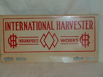 International Harvester Indianapolis Works License Plate Topper Tractor