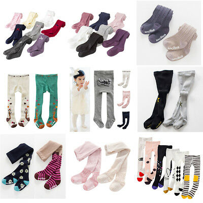AU Toddler Infant Kids Baby Girls Cotton Warm Pantyhose Socks Stockings Tights