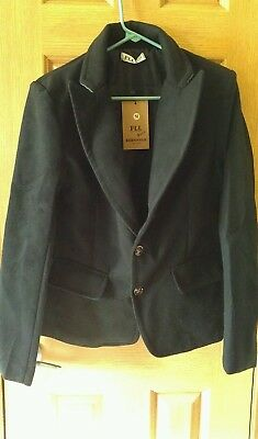 MENS Sm. BLACK WOOL BLEND JACKET BUTTON COAT LINED BUTTON NEW W/TAGS