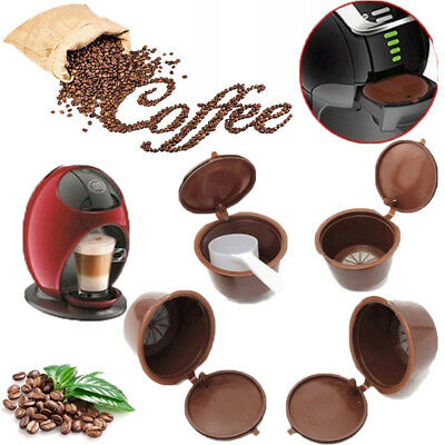 5 x Refillable Reusable Compatible Coffee Capsules Pods for DOLCE GUSTO Machine