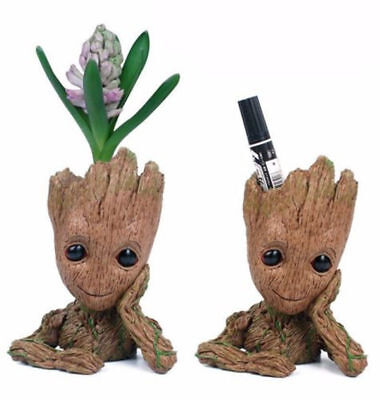 Guardians of the Galaxy Baby Groot Figure Figurine Flowerpot Pen Pot Doll Toy AU
