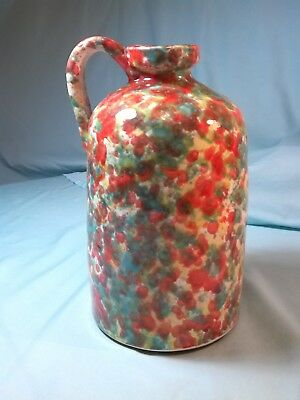 """9 1/2"""" decorative jug colorful red yellow green with hangle jug"""