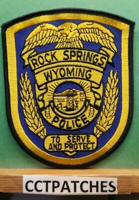 Rock Springs, Wyoming Police Shoulder Patch Wy