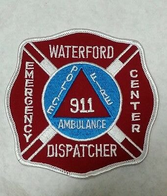 Waterford, Connecticut Dispatcher 911 Police Fire Shoulder Patch Ct