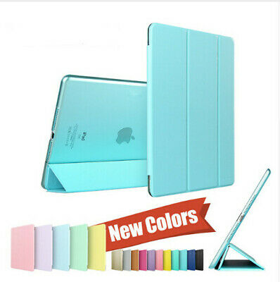 Smart Case Cover Back Magnetic Cover Auto Sleep/Wake for iPad 2 3 4 5 Mini Air 2