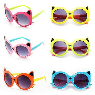 Sunglasses Baby Girls Boy Cartoon Cat UV400 Eyeglasses Toddler Baby Sunglasses