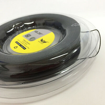 Factory Sell 1.25mm Power Control Rough Surface 200m Reel Tennis String Black