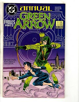 Lot Of 7 Green Arrow DC Comic Books ANNUALS # 1 2 3 4 5 6 7 Canary Batman CR6