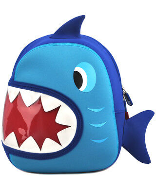 Kid Toddler Backpack Cute Kindergarten Children Pre-Schoolbag Cartoon Shark Blue