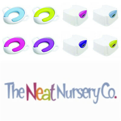 The Neat Nursery Co. Step Up Stool and Matching Comfy Toilet Training Seat SAVE