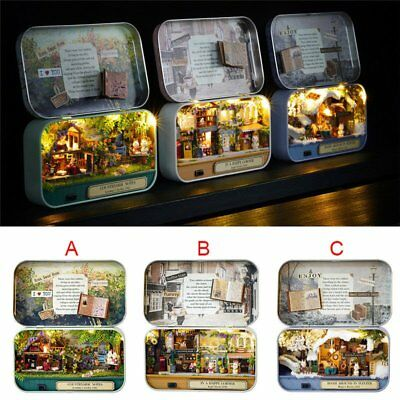 DIY Handcraft Miniature Project Kit Dolls House The Tin Box Theatre Series Gift