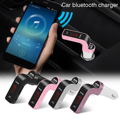 USB Charger Kit G7 Bluetooth Car Handsfree FM Transmitter Radio MP3 Player LOT