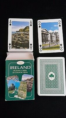 Kartenspiel  Poker 56 Blatt Werbung Ireland Irland Playing Cards Colour Views