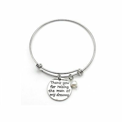 Thank You For Raising The Man Of My Dreams Expandable Bangle Bracelets Mother in