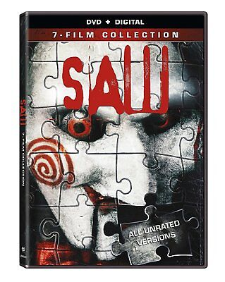 SAW The Complete Movie Collection 1 2 3 4 5 6 7 Series DVD Box Set Horror Lot .