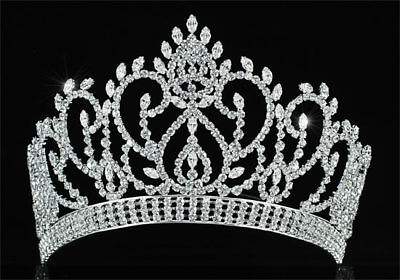 Vintage Style Pageant Beauty Contest Crown Full Circle Round Tall Tiara CT1724