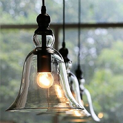 Industrial Vintage Semi Flush Ceiling Chandelier Light Steampunk Pendant Lamp US