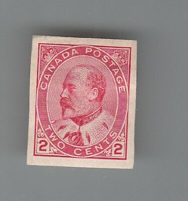 CANADA # 90a  Imperf.  '' King Edward ''  MOG hinged...2 scans