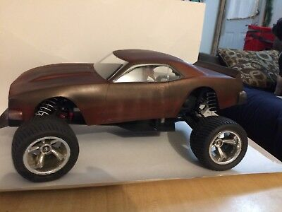 68 Camaro RC body Custom painted rat rod 1/10 scale brand new looks awesome!!!!!