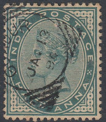 1894 India used in Muscat Oman GUADUR, 1/2a blue-green SG# Z21 [sr3284]