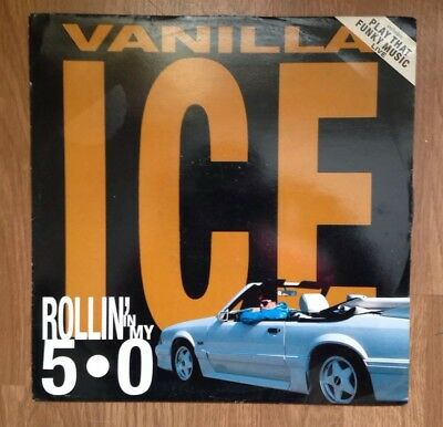 "Vanilla Ice Rollin In My 5.0 12"" Play That Funky Music Live RUN DMC Coolio EPMD"