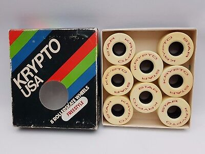 Krypto USA Star Krypto Roller Skate Wheels Freestyle Boxed Box of 8 57mm 100a