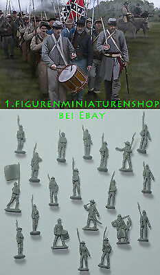 1:72 FIGUREN 147 Confederates on the March Gettisburg - STRELETS