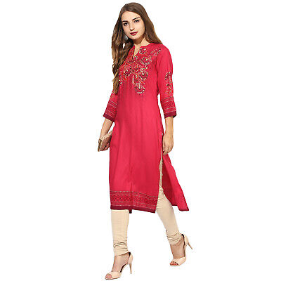Indian Bollywood From Lagi Kurta Kurti New Style Ethnic Dress Top Good Quality