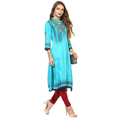 Indian Bollywood Designer Lagi Rayon Kurta Kurti Ethnic Style Dress Top Tunic