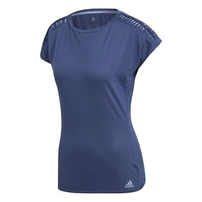 Adidas Womens Melbourne Climacool Tennis T Shirt - NEW - Noble Indigo | *XS - L*