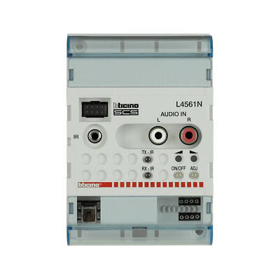 BTICINO L4561N Stereo Control 2 wires SCS 4 DIN MODULES MY HOME