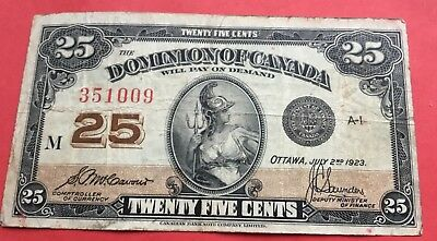 Canada 1923   fractional note 25 cents.
