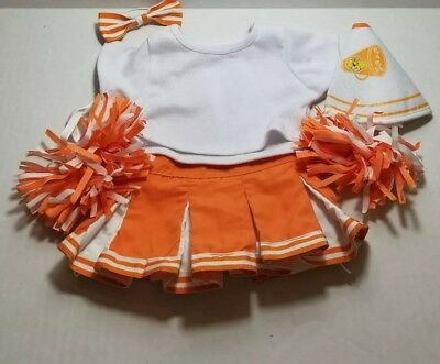 Build A Bear Workshop Cheerleading Outfit Orange BABW