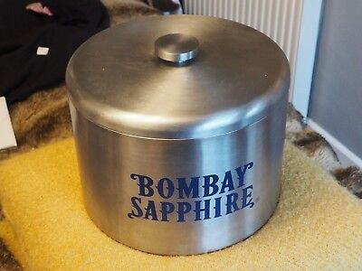 Large Bombay Sapphire Stainless Steel Ice Bucket,