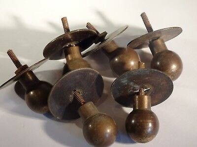Antique Vintage Reclaimed Chest of Draw Bun Handles - Set of 6