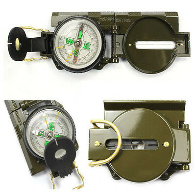 Outdoor Compass Metal Pocket Military Army Gear Hiking Camping Survival Marching