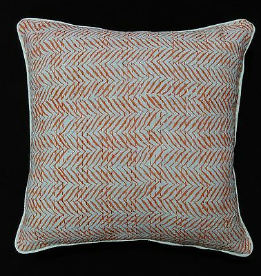 Indian Kantha 100% Cotton Hand Block Printed Cover Cushion Throw Decor 2 Pcs Set