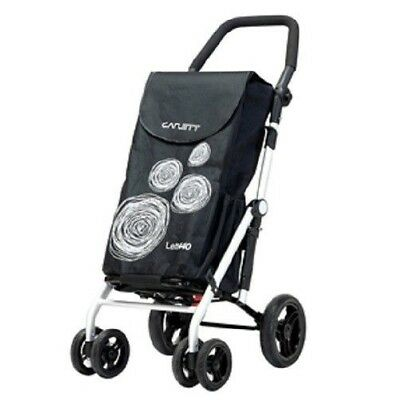 CARLETT Lett440 Deluxe Folding 6 Wheel Swivel Shopping Trolley with Park Brake