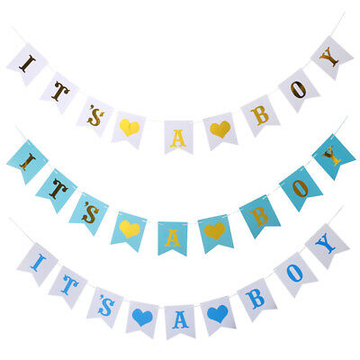 Blesiya It's A Boy Bunting Banner First Birthday Baby Shower Party Decorations