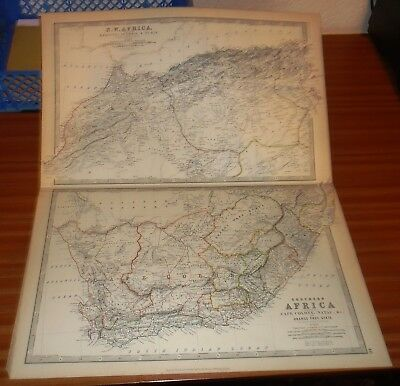 AFRICA North West / Southern ~ Antique Map 1871 W & A. K. JOHNSTON Original